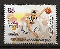 MACEDONIA 2017,SPORT,EUROBASKET,FIBA,TURKEY,BASKETBALL,,MNH - Macedonia