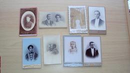 LOTTO 8 FOTO CARTONATE FOTOGRAFO NON NOTO MISURA CM. 10 X 6 CIRCA CIASCUNA - Antiche (ante 1900)