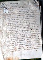 14 CAEN PARCHEMIN 17 ' ACTE DE VENTE BAILLAGE DE CAEN 4 PAGES 1673 DOCUMENT  AUTHENTIQUE - Manuscripts