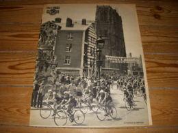 CYCLISME Découpe REVUE TOUR 1952 Le PELOTON TRAVERSE ABBEVILLE (Somme) - Sport