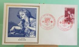 Europa CEPT Croix Rouge (Greuze) - 17 Royan - 11.12.1971 -FDC 1er Jour (Tampon Sèche Au Dos) - FDC