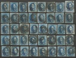 Belgique - Médaillons - 40 Timbres Oblitérés - N°7-7A-11-11A - 1849-1865 Medaillen (Sonstige)