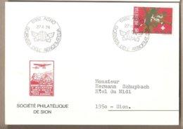 Svizzera - Cartolina Con Annullo Speciale: Giornata Dell'Aerofilatelia - 1974 - Suisse