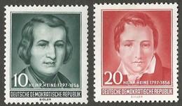 East Germany/DDR. 1956 The 100th Anniversary Of The Death Of Heinrich Heine. SG E253=254. CV £19.50. MNH - [6] Repubblica Democratica