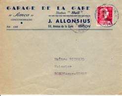 HIRSON ENTREPOT 02 Aisne Cachet A7 1956, Marianne  Muller 15f Rouge - Marcophilie (Lettres)