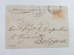 1877 - Busta Con Timbro Numerale A Sbarre - 1861-78 Vittorio Emanuele II