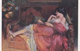 - Femme En Rouge, D. Enjolras (lot Pat 103) - Künstlerkarten