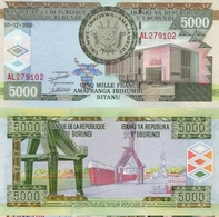 BURUNDI 5000 Francs 01.12.2008 P 48 A UNC - Burundi