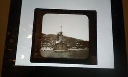 Croiseur Cuirassé Bateau Navire De Guerre  Iéna  A VILLEFRANCE-PLAQUE DE VERRE - Glasdias