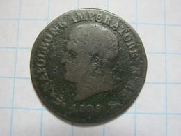 Kingdom Of Napoleon 1 Centesimo 1809 V - Monnaies Transitoires