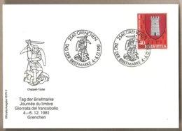 Svizzera - Cartolina Con Annullo Speciale: Giornata Del Francobollo - 1981 - Storia Postale