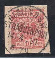 """10 Pfennig Krone Adler , Briefstück Mit Zentralem Stempel """" Berlin Strassenpost """" - Deutschland"""