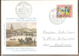 Svizzera - Cartolina Con Annullo Speciale: Giornata Del Francobollo - 1984 - Storia Postale
