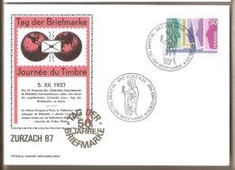 Svizzera - Cartolina Con Annullo Speciale: Giornata Del Francobollo - 1987 - Storia Postale