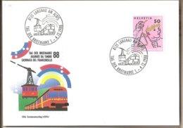 Svizzera - Cartolina Con Annullo Speciale: Giornata Del Francobollo - 1988 - Storia Postale