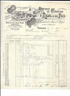 Haute Garonne 31 Toulouse MAISON F.RIGAL & SES FILS, FABRIQUE DE CERUSE E GAUBERT Et PEGOT  1904 - 1900 – 1949