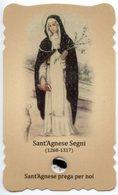 Montepulciano (Siena) - Santino Fustellato SANT'AGNESE SEGNI Con RELIQUIA (Ex-Indumentis) - PERFETTO R25 - Godsdienst & Esoterisme
