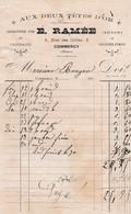 COMMERCY E RAMEE AUX DEUX TETES D OR CHARCUTERIE FINE JAMBON SAUCISSES FUMEES ANNEE 1890 - Non Classés