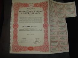 """Action.""""Charbonnages D'Abhooz Et Bonne-Foi-Hareng"""" Herstal(Liège) 1947 Charbon Coal Mines - Mines"""