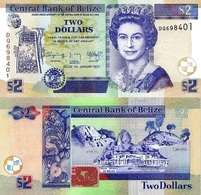 BELIZE 2 Dollars 1.1.2017  P 66 F  UNC - Belice