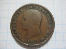 Kingdom Of Napoleon 1 Soldo 1813 M - Temporary Coins