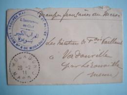MAROC - Lettre Du 28/2/1911 De  Mogador Pour Lérouville ( Meuse ) Des Troupes Françaises Au Maroc Beaux Cachets 2 Photos - Marocco (1891-1956)