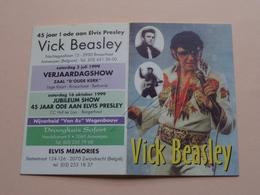 1999 > VICK BEASLEY > 45 Jaar ! Ode Aan Elvis Presley ( Elvis Memories / Zwijndrecht ) Zakkalender > Gehandtekend ! - Calendriers
