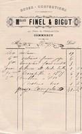 COMMERCY MELLES FINEL BIGOT ROBES CONFECTIONS ANNEE 1890 - Non Classés