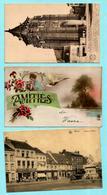 2x WAVRE : La Tour De L'Eglise + Place Du Sablon + Amitiés De Wavre - Wavre