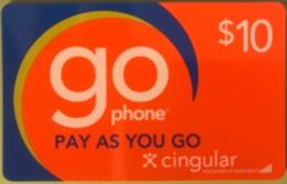 AMERICAN VIRGIN ISLANDS  -  Prepaid  -  GO Cingular  -  $ 10 - Altri – America