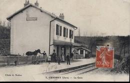 CPA  JURA GENDREY - La Gare - Gendrey