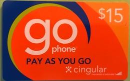 AMERICAN VIRGIN ISLANDS  -  Prepaid  -  GO Cingular  -  $ 15 - Altri – America
