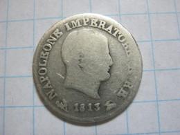 Kingdom Of Napoleon 10 Soldi 1813 B - Temporary Coins