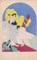 "Cpa Aquarellée- Sur Carton Fort ""Pierrot-bal Masqué""  ( Lot Pat 103) - Illustratori & Fotografie"