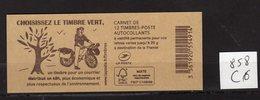 Carnet Marianne De CIAPPA Lettre VERTE N° 858 C3 - Carnets