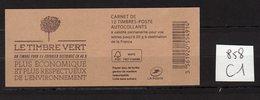 Carnet Marianne De CIAPPA Lettre VERTE N° 858 C1 - Carnets