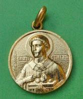 """Pendentif Médaille Religieuse Bronze Doré """"Saint Etienne"""" - Religious Medal - Poinçon Monnaie De Paris - Religion &  Esoterik"""
