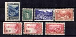 Andorre Sept Bonnes Valeurs Neufs **/* 1932/1958. TB. A Saisir! - Andorre Français