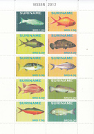 2012 Surinam Fish Poisson Miniature Sheet Of 10 MNH - Suriname