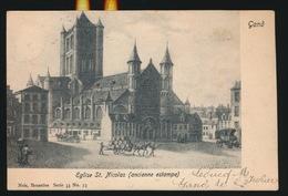 GENT  EGLISE ST.NICOLAS  ANCIENNE ESTAMPE - Gent