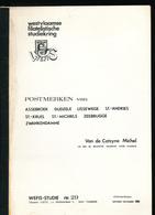 906/30 -- LIVRE/BOEK WEFIS Nr 29 -  Postmerken Van BRUGGE Omgeving , 38 Blz ,1981 , Door Michel Van De Catsyne - Philatelie Und Postgeschichte
