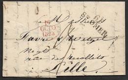 1828 LAC 61 ST. OMER (PAS DE CALAIS) 30mm X 11mm A LILLE - 1801-1848: Precursors XIX