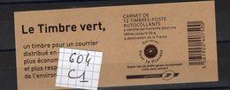 Carnet Marianne Lettre Verte N° 604 C1 - Carnets