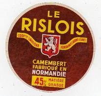 Fev20  27050  étiquette Camembert Le Rislois - Formaggio