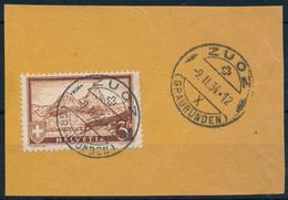 SCHWEIZ / SUISSE  -  ZUOZ   -  1934  ,  Gebirgslandschaft  -  Mi. 226 - Oblitérés