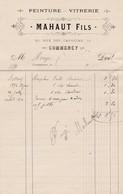 COMMERCY MAHAUT PEINTURE VITRERIE ANNEE 1892 - Francia