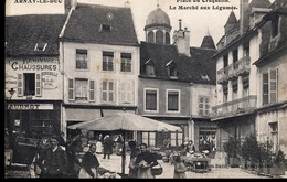 CPA  [21] Côte D'Or > ARNAY LE DUC - Place Du Craquelin - Le Marché Aux Légumes - Arnay Le Duc