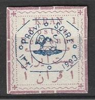 Iran 1903 N° 216   1 Kran Surchargé Provisoire Sans Gomme Côte 50 (afp10) - Iran