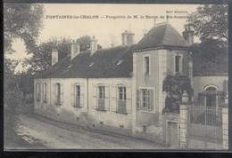 CPA Carte Fontaines Les Chalon - Propriété De M. Le Baron De Ste-Suzanne - Non Circulée - Altri Comuni