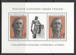 2012 Slovakia Art Sculpture Koniarek Souvenir Sheet MNH  @ BELOW FACE VALUE - Slovakia